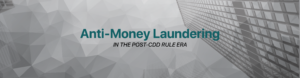 Anti-Money Laundering in the Post-CDD Rule Era